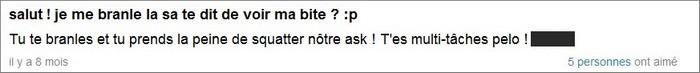 Question d'un pervers sur Ask.fm