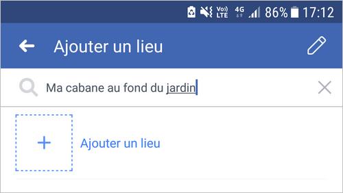 Créer un lieu sur Facebook