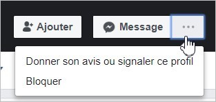 Signaler un profil Facebook