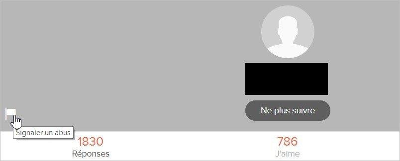 Signaler un profil sur Ask