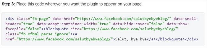 Intégration du code Facebook sur WordPress