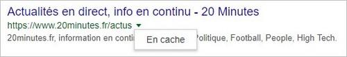 Cache de Google - Exemple