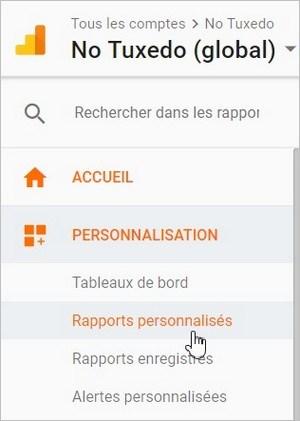 Google Analytics - Créer un rapport personnalisé