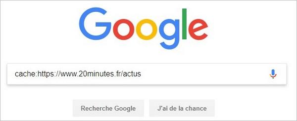 Requête cache sur Google