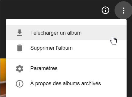 Télécharger un album photo Blogger