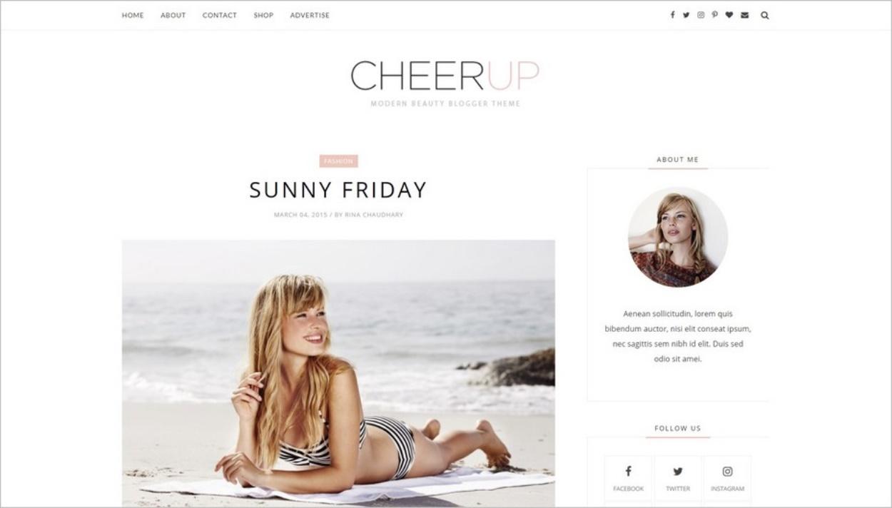 CheerUp, un thème épuré