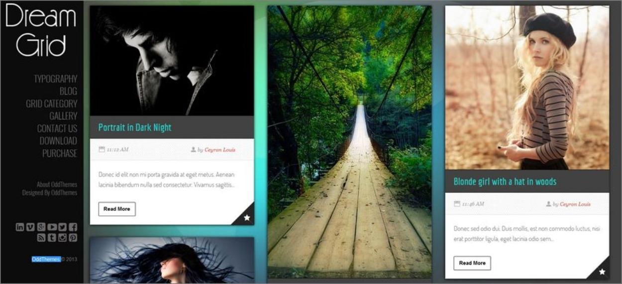 Thème gratuit Blogger - Dream Grid