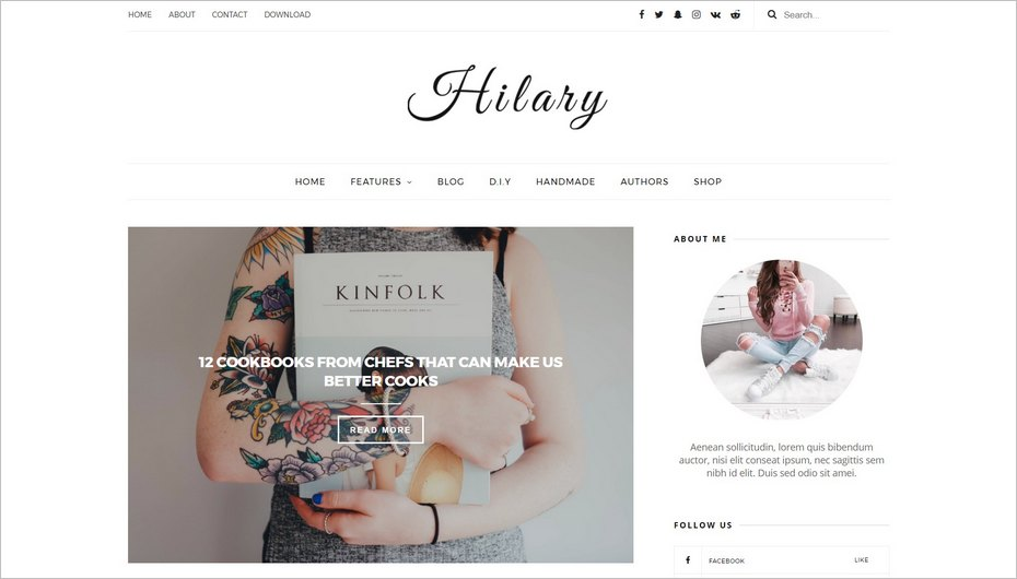 Le design gratuit Hilary