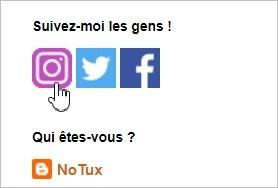 Icônes Facebook, Twitter et Instagram sur Blogger