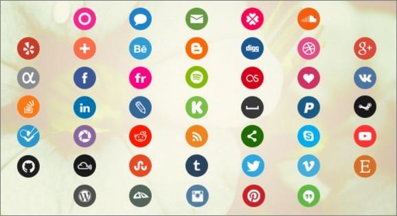 Icônes de réseaux sociaux rondes