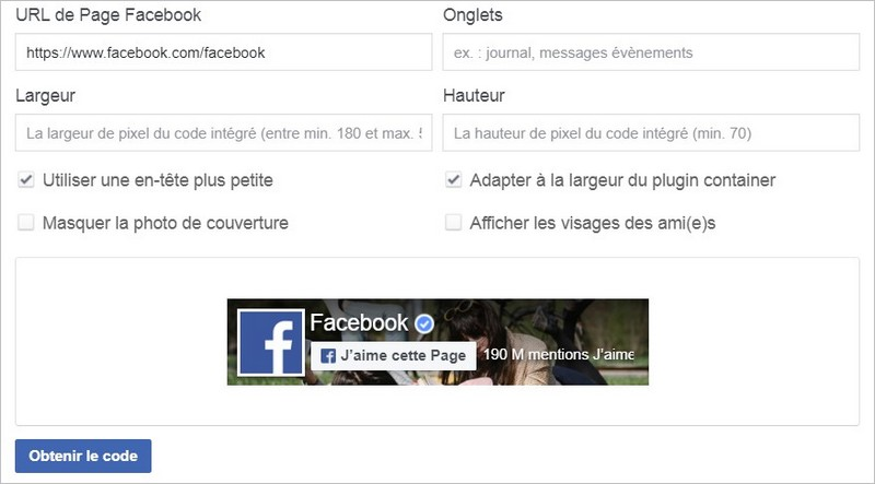 Une Like Box Facebook très simple