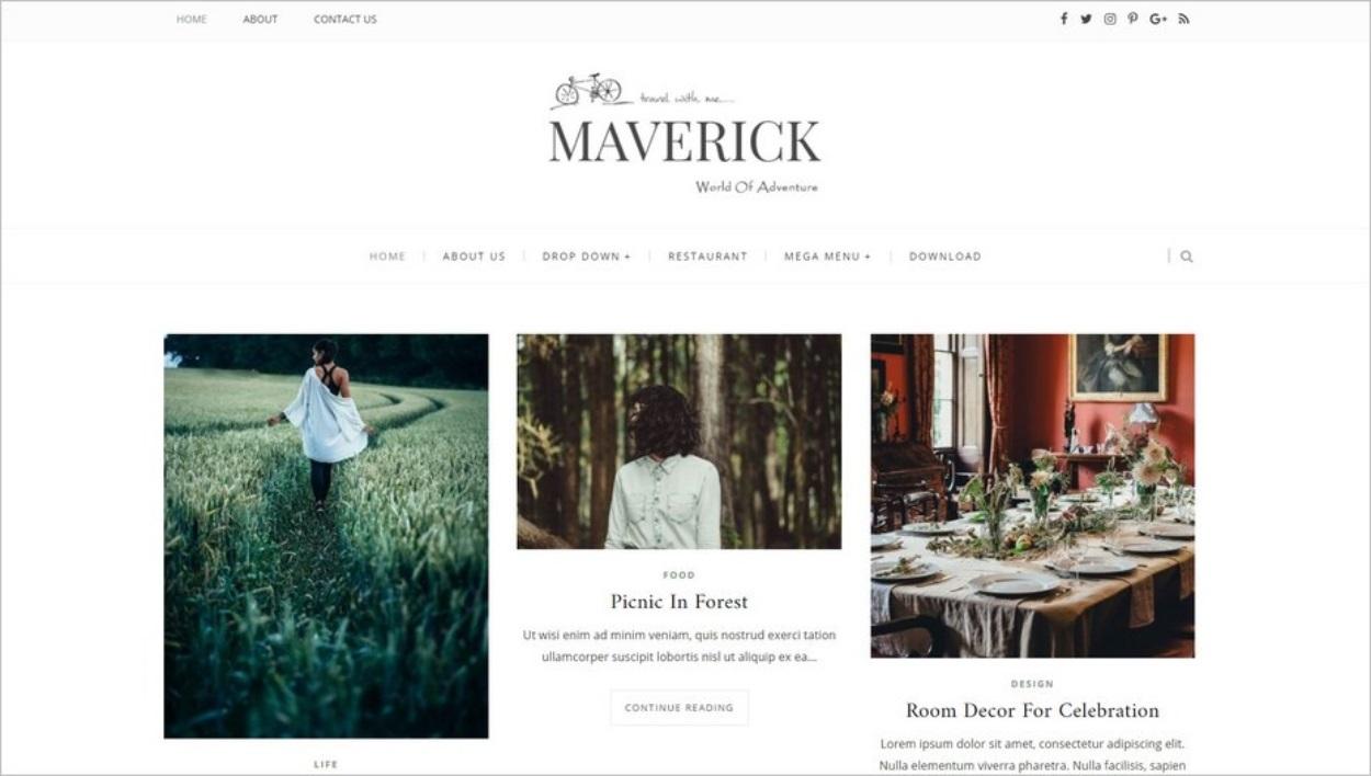 Le thème gratuit Maverick pour Blogspot