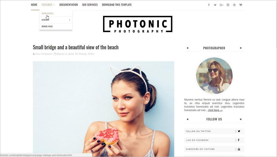 Photonic, un template Blogger gratuit