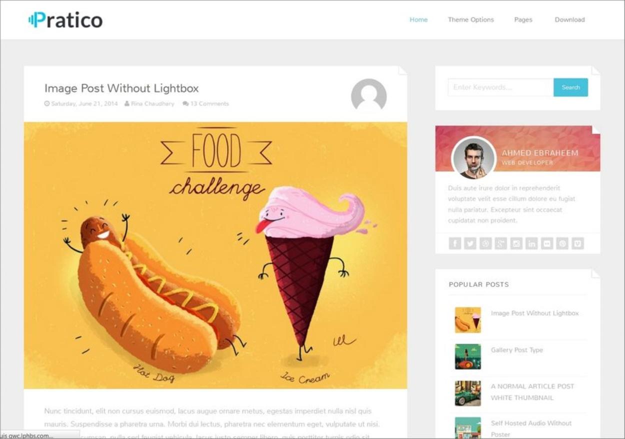 Modèle Blogger gratuit - Pratico