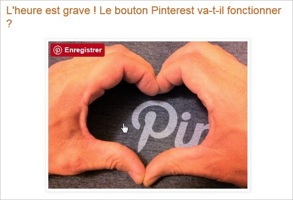 Bouton Pinterest fonctionnel