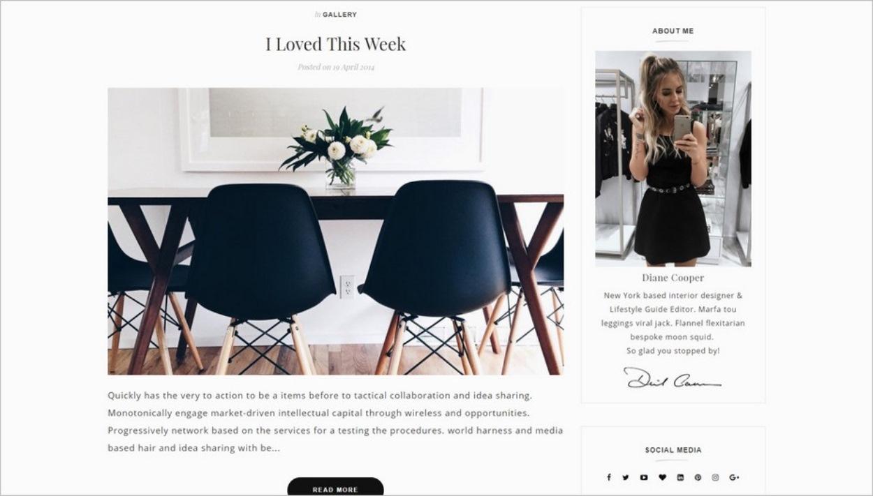 Le template Lex pour Blogspot