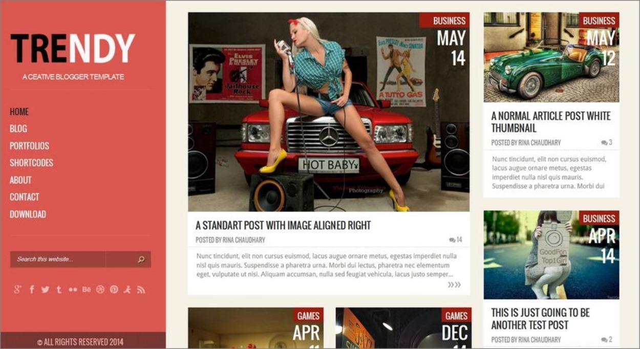 Template gratuit et responsive pour Blogger - Trendy