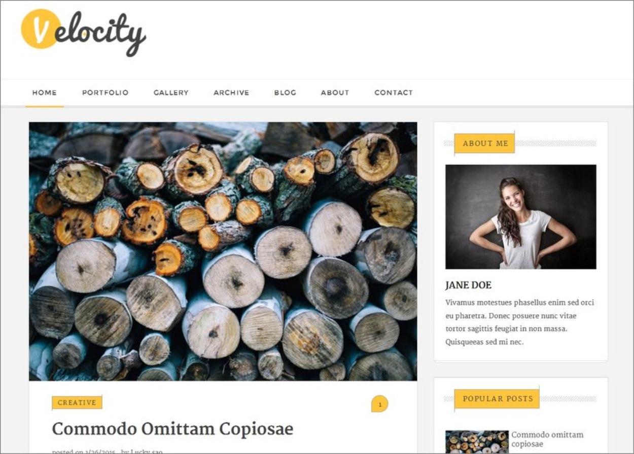 Template gratuit et responsive pour Blogger - Velocity