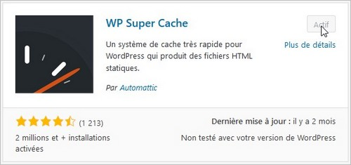 WP Super Cache - Installation