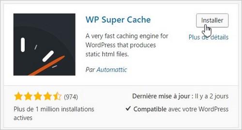 WP Super Cache - Installation