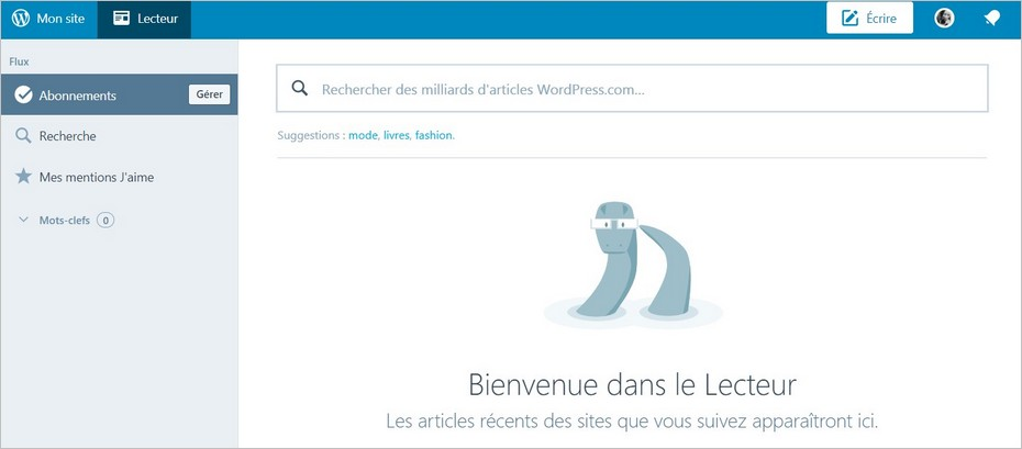 Abonnements sur WordPress