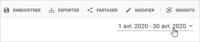 Choisir une plage de dates sur Google Analytics