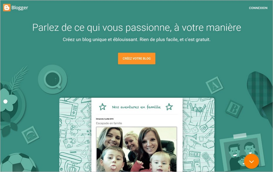 Inscription sur Blogger