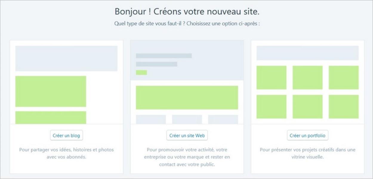 Choisir le type de site sur WordPress