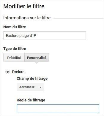 Filtre d'adresse IP avancé