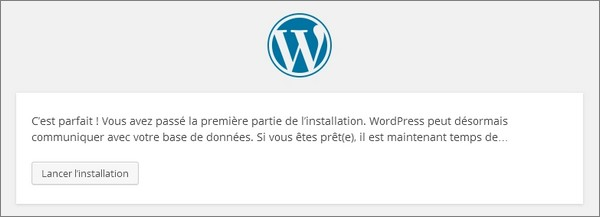 Installer WordPress chez un hébergeur - étape 3