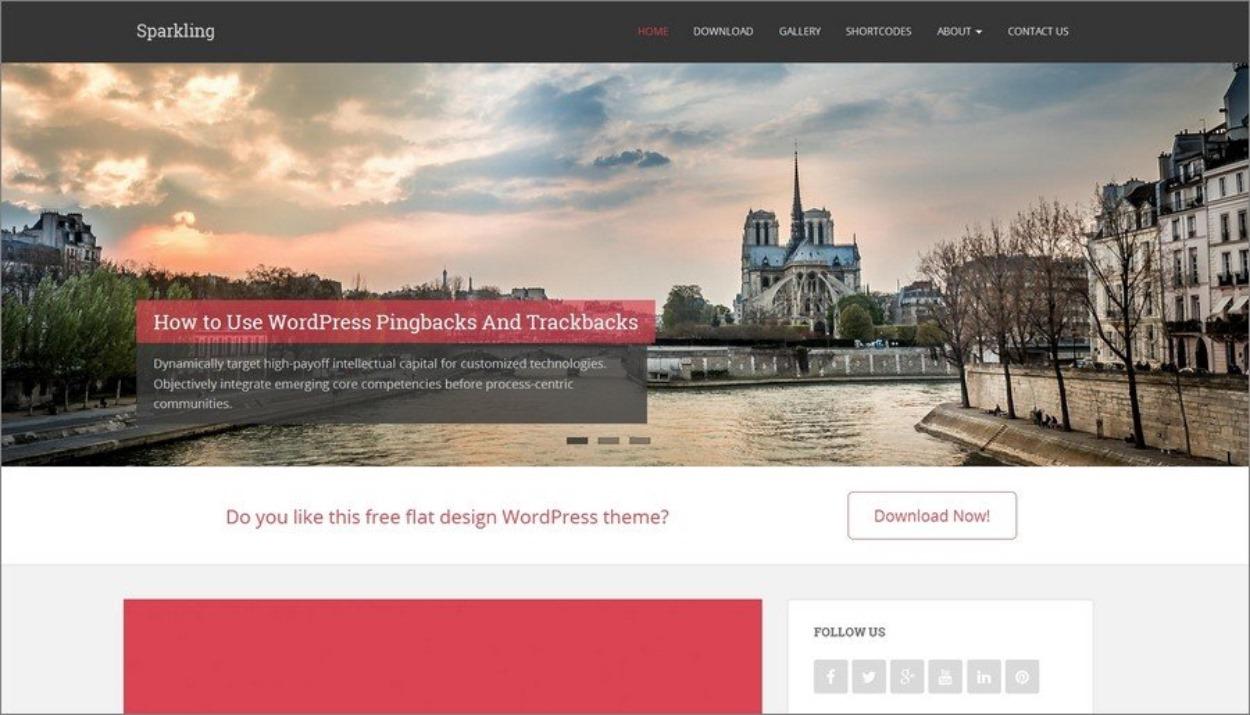 Thème responsive gratuit pour WordPress - Sparkling