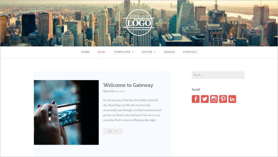Le thème WordPress Gateway