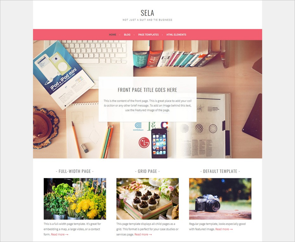 Le thème WordPress gratuit Sela