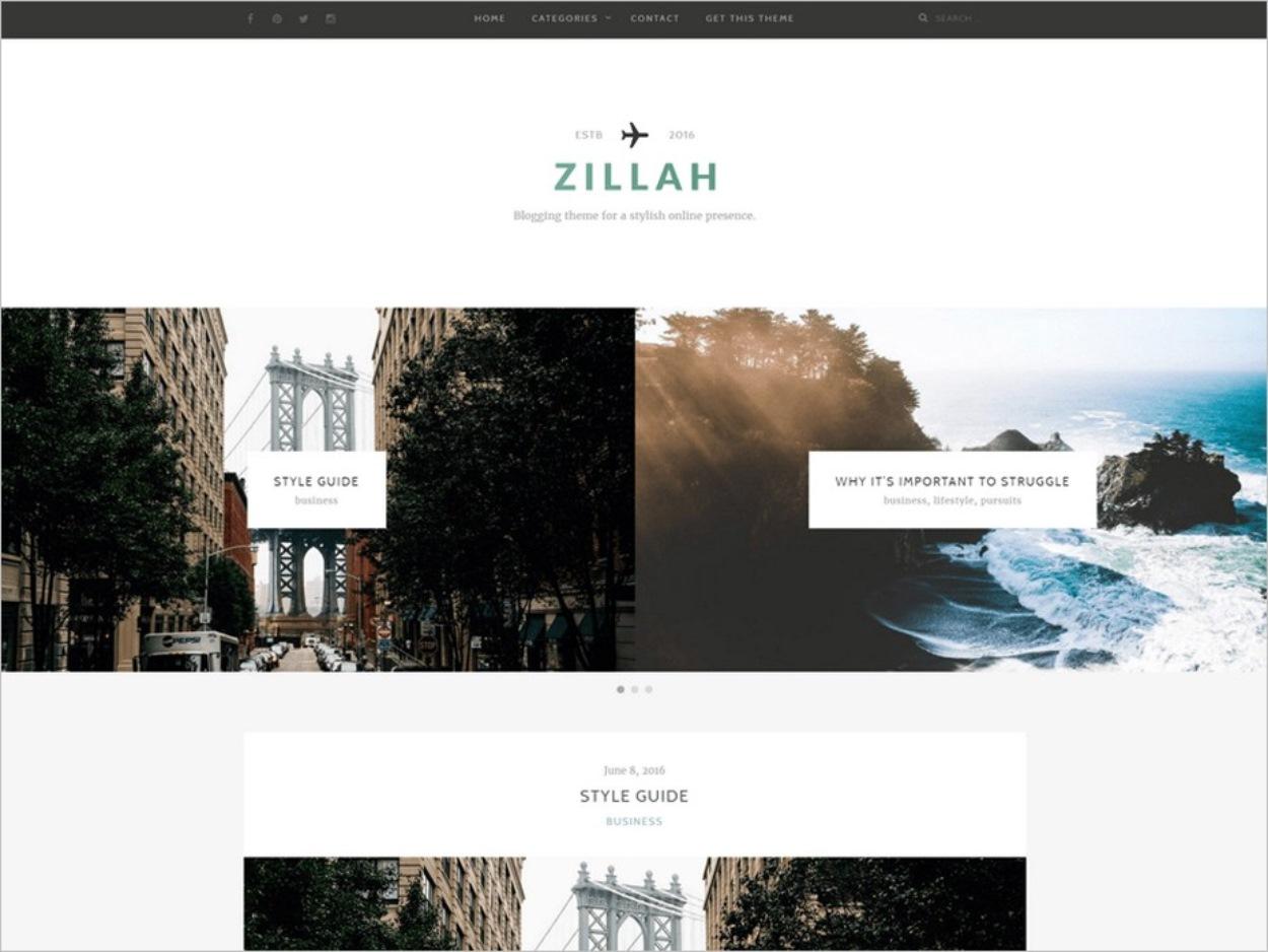 Le thème WordPress gratuit Zillah