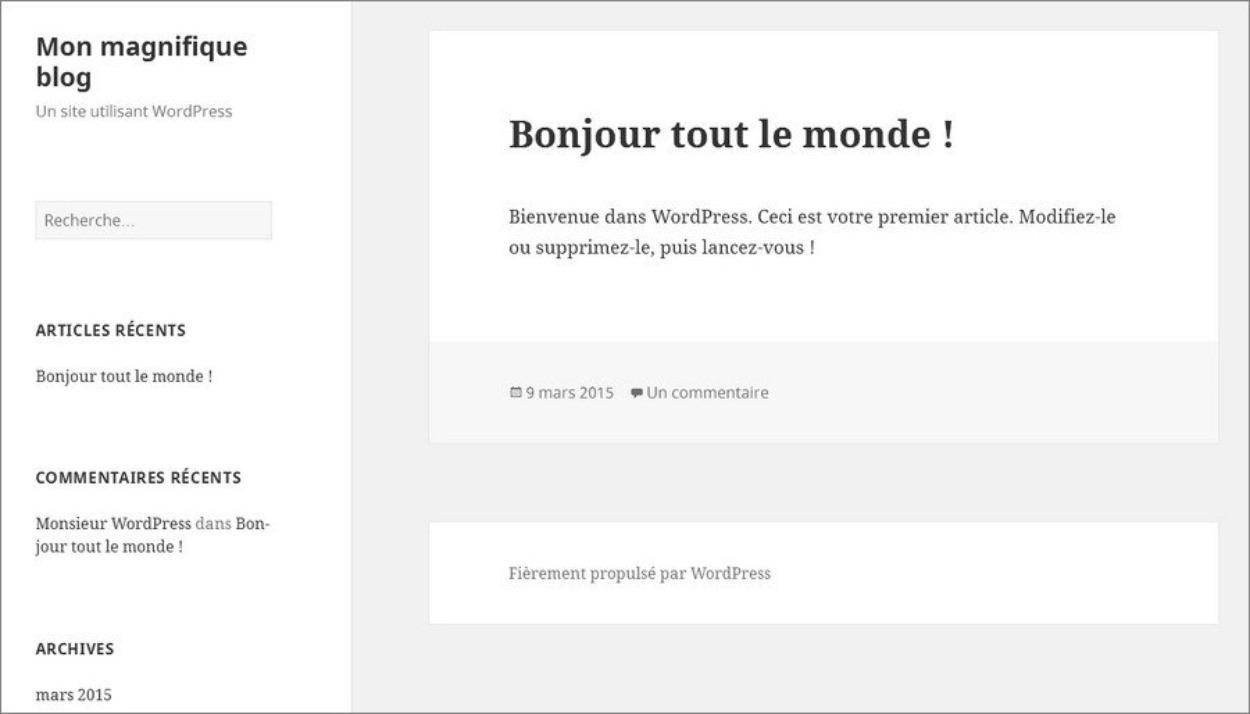 WordPress - Blog par défaut