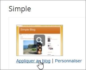Appliquer le thème Simple sur Blogger