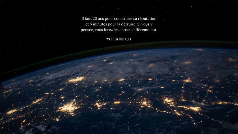 Citation de Warren Buffett sur la réputation