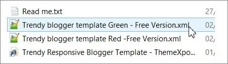 Fichier xml d'un thème Blogger