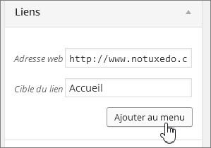 Créer un lien vers la page d'accueil sur WordPress