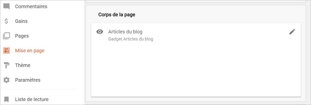 Modifier les options d'affichage sur Blogger