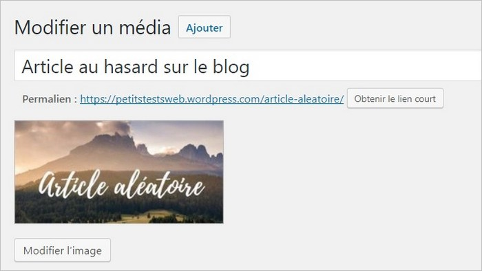Uploader une image sur WordPress