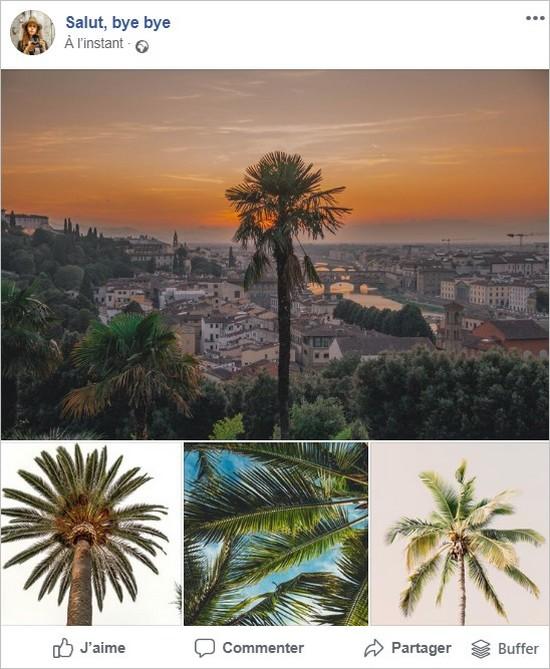Affichage de 4 photos dont un paysage
