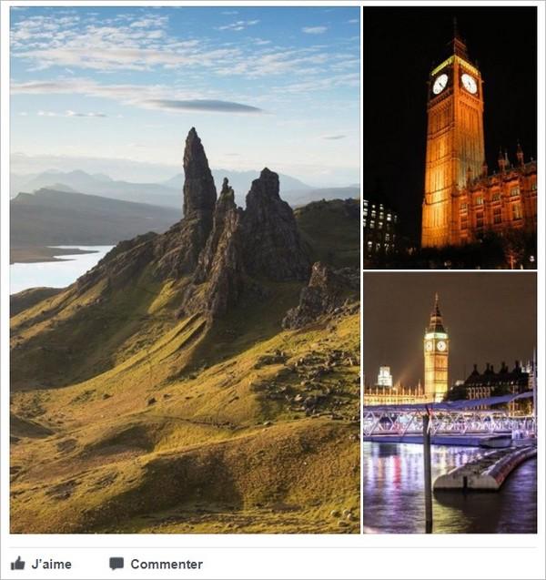Affichage vertical de 3 photos sur Facebook