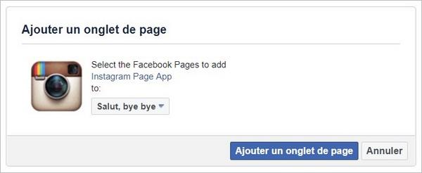 Autoriser l'application Instagram sur Facebook