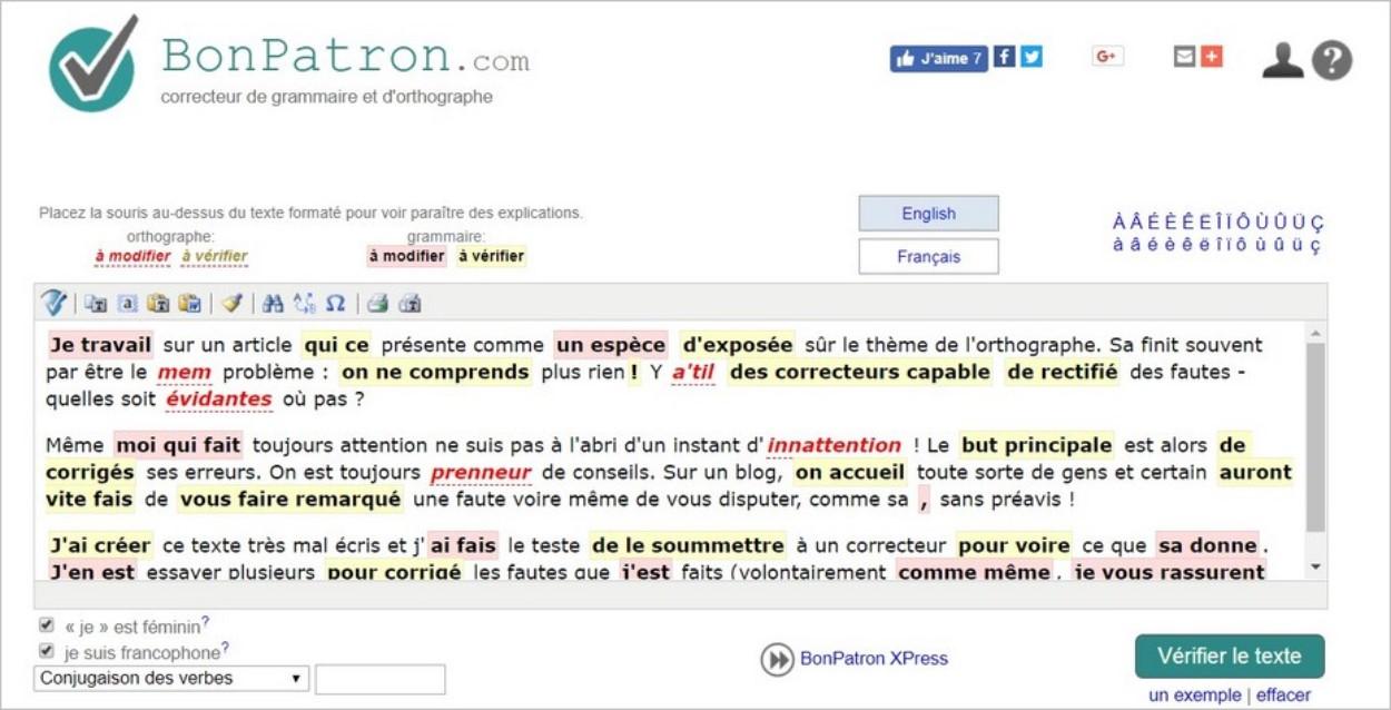 BonPatron, le correcteur orthographique en ligne