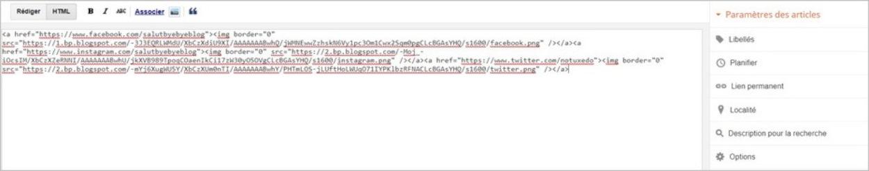 Code des images sur Blogger
