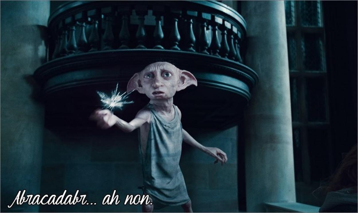 Dobby fait de la magie dans Harry Potter