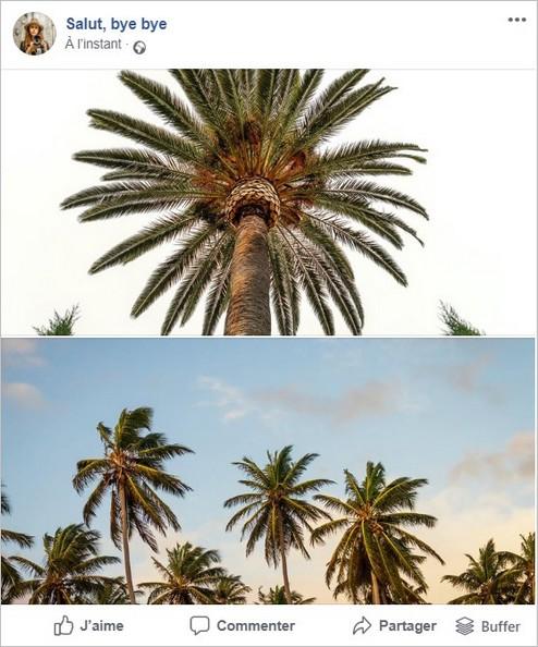 Facebook : affichage de 2 photos au format paysage