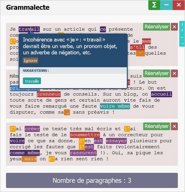 L'extension Grammalecte pour Firefox