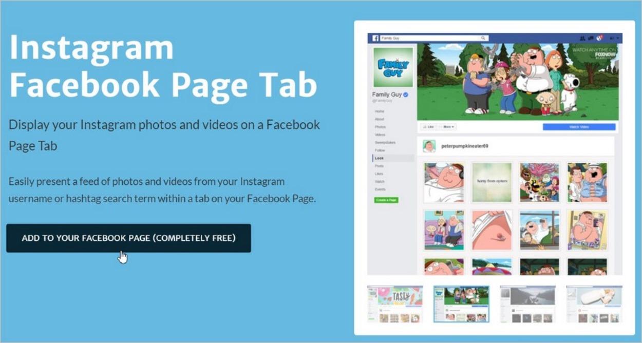 Ajouter l'application Instagram sur Facebook